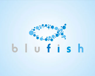 Blue Fish by EeRabbit Logo Design