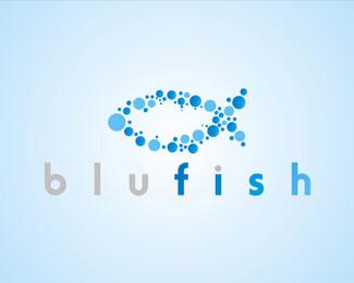 Blue Fish by EeRabbit Logo Design