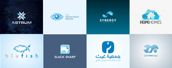 Collection Of Blue-Colored Logos