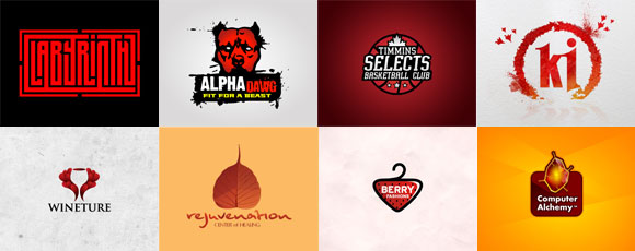 Collection Of Red-Colored Logos