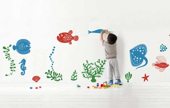 Under Water Scene Wall Sticker by Vinyl Impression