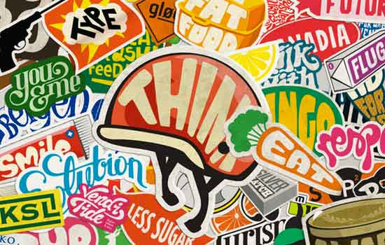 Sticker Typography by Mats Ottdal