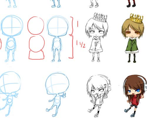 useful chibistyle anime drawing tutorials ninja crunch