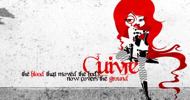 Wallpaper: Blood on Pavementby KabukiKatze