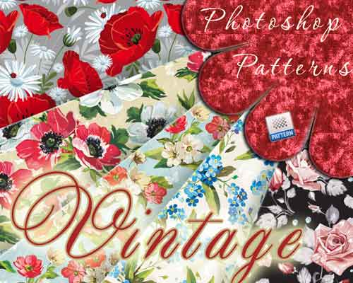 Vintage Floral Patterns by Arisha Kazimirova