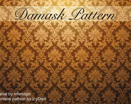 Damask Pattern Seamless by Daniel Lechner
