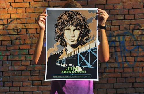 Jim Morrison Poster by Arthur Chayka