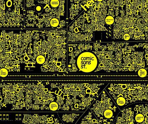 Comic Sans Town Map by Danis Sie