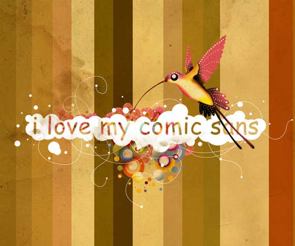 I Love My Comic Sans by Thomas Dian