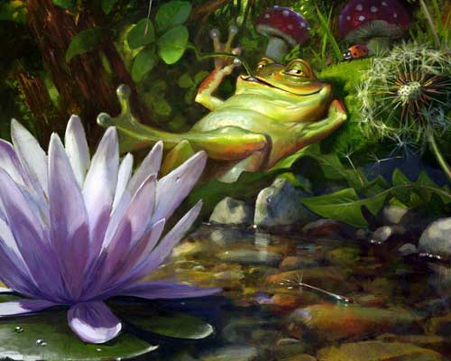 Frog Illustration by John Liberto