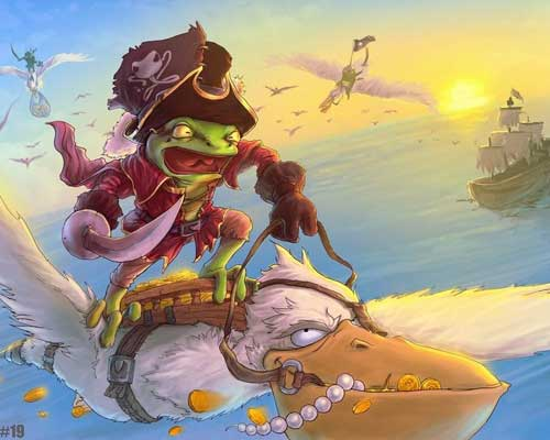 Froggo the Sky Pirate by Leyth