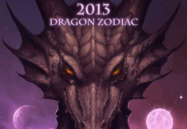 2013 Dragon Zodiac Calendar by The-SixthLeafClover