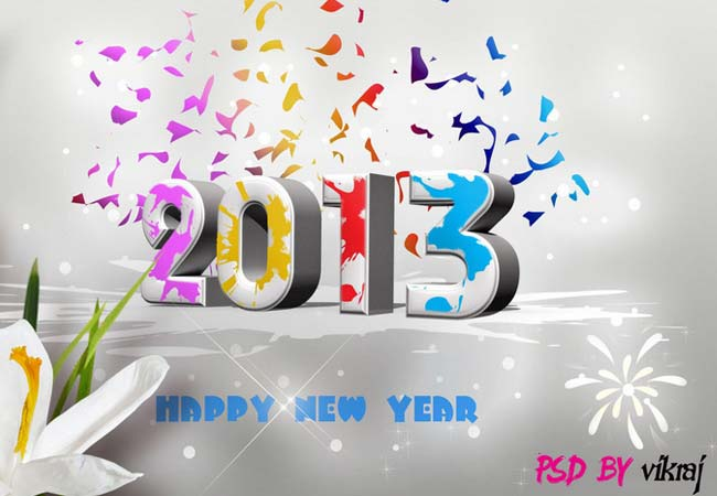 2013 Year Wallpaper with PSD by vikraj
