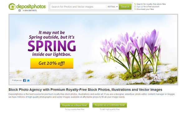 Depositphotos' 20% Discount for Welcoming the Spring
