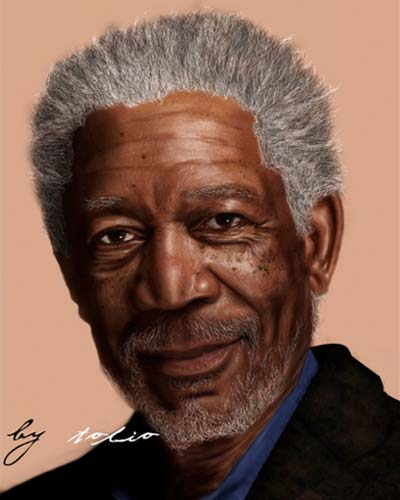 Morgan Freeman by ~Tolio-Design