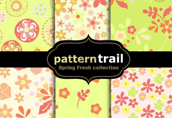 6 Spring Fresh Floral Patterns by melemel