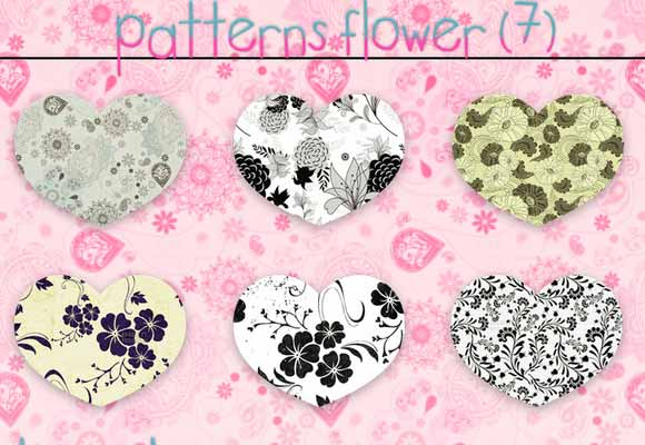 7 Flowers Patterns By StiloJuliii