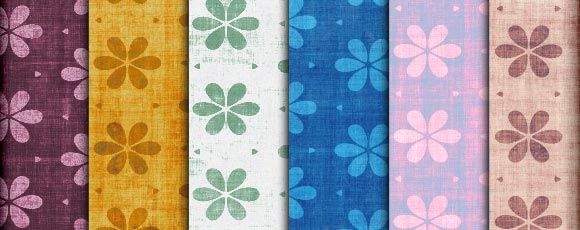 Floral Pattern Sets And Tileable Backgrounds