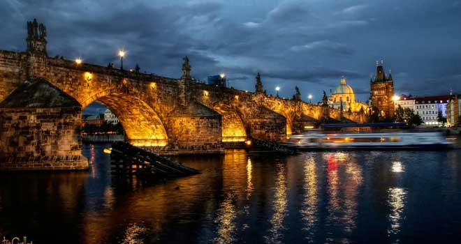 Charles Bridge At Night by pingallery